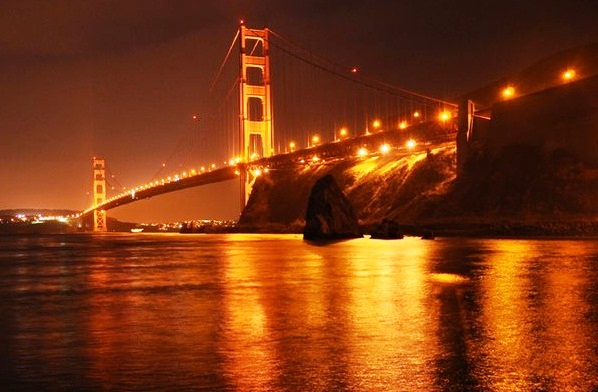 san francisco golden gate bridge at night. Golden Gate Bridge - Night