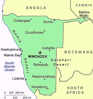 Namibia - Map of Namibia