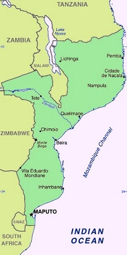 Mozambique - Map of Mozambique