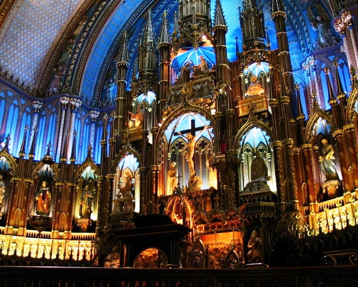 Notre-Dame Basilica of Montreal - Interior view
