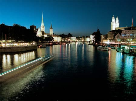 Zurich - Night view of the