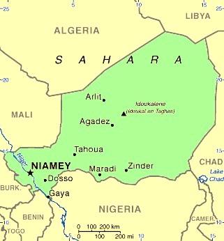 Images Niger Map of Niger 9351