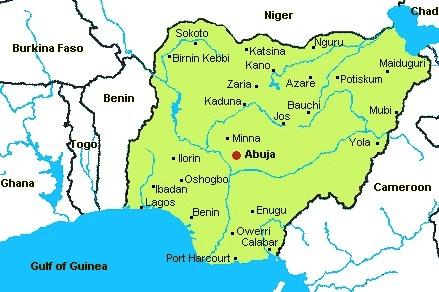 Nigeria - Map of Nigeria