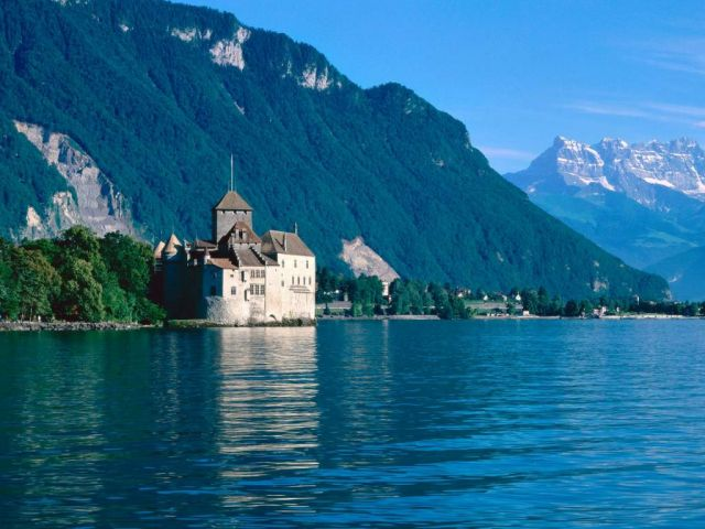 Geneva - Chateau de chillon on Lake Geneva
