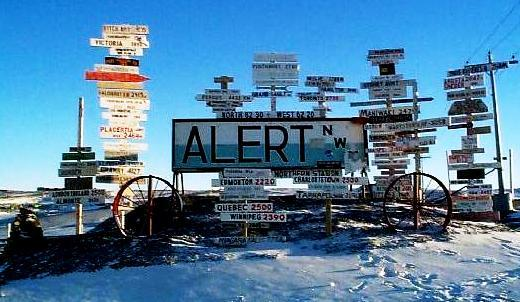 Alert complex, Canada - Scientific researches