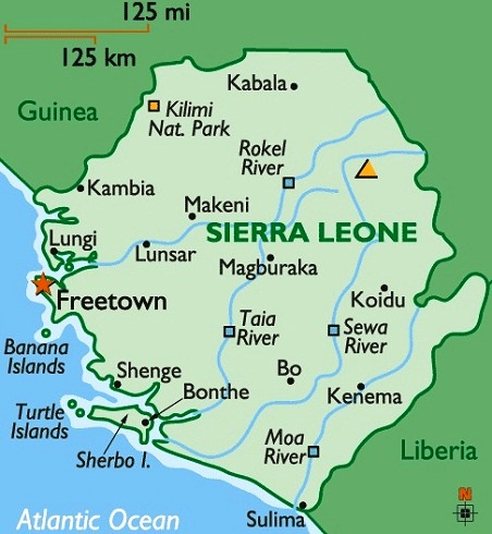 Sierra Leone The Best Countries In Africa - Sierra leone map