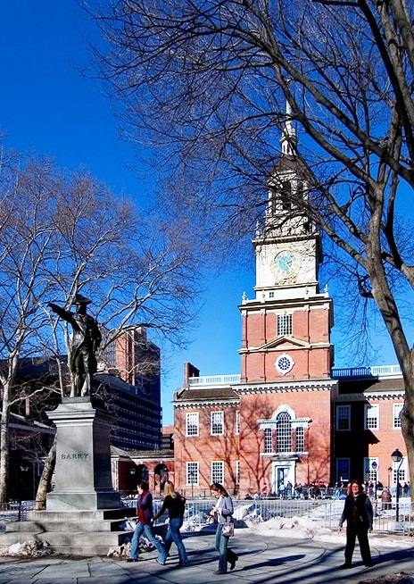 Best Places To Visit In Philadelphia Independence Hall Front View