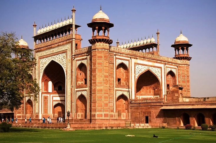 Agra in India - Gate to Taj Mahal