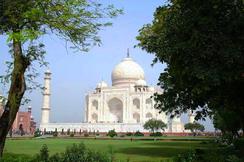 Agra in India - General view of Taj Mahal