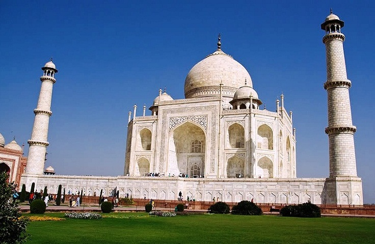 Agra in India - Taj Mahal view