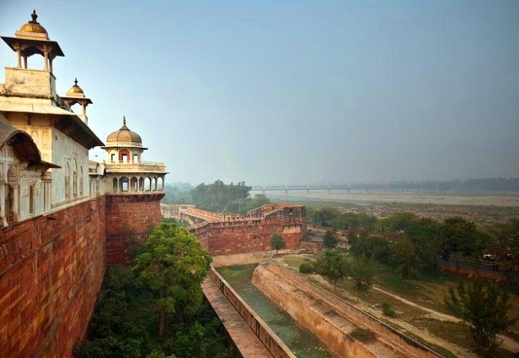 Agra in India - View from Agra Red Fort