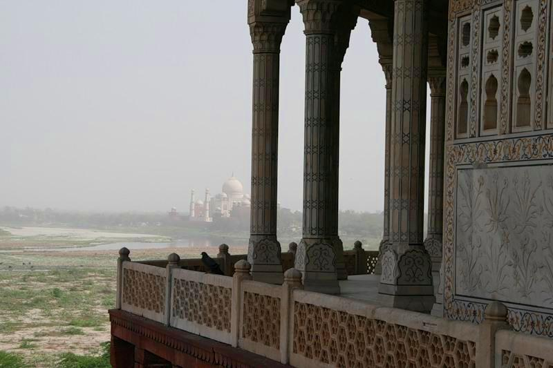 Agra in India - View of Taj Mahal