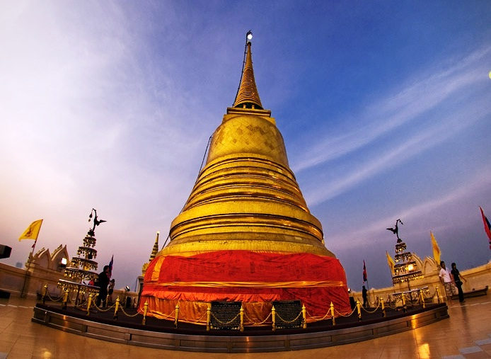 Bangkok in Thailand - Wat Saket Golden Mount