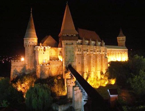 Romanian Castles At Night