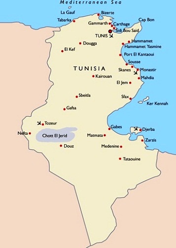 Images Tunisia Map Of Tunisia - Map of tunisia