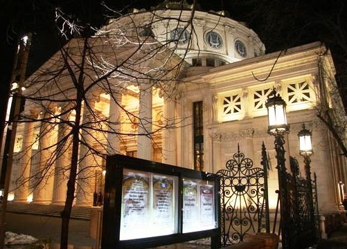 Romanian Atheneum - Night view