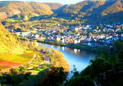 Remich city - The Moselle River