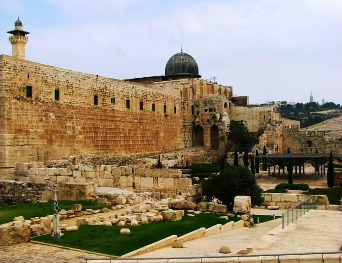 Jerusalem in Israel - Temple Mount and Al-Aqsa