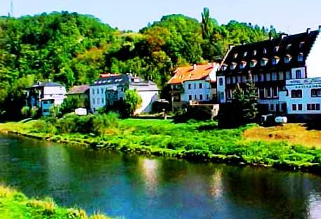 Echternach city - The Sauer River