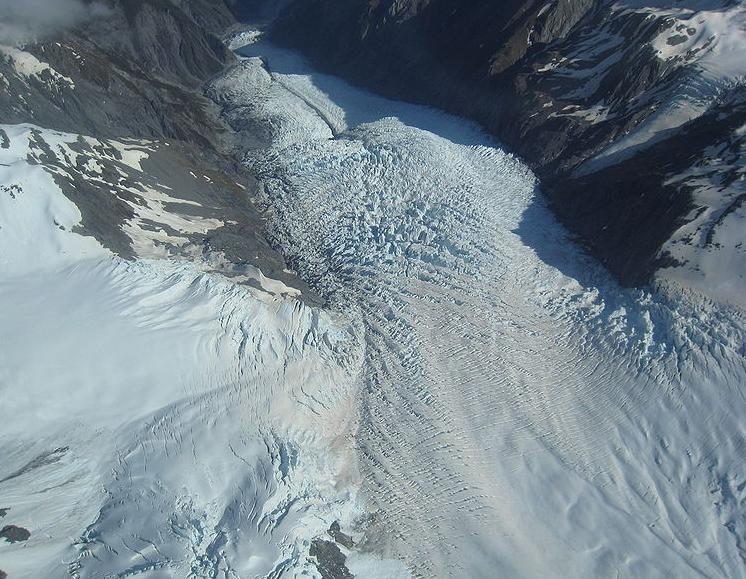 Fox and Franz Josef Glaciers  - Air view