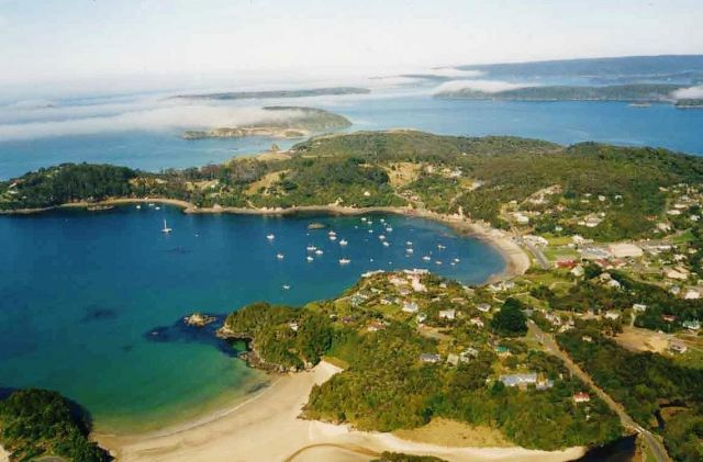 Stewart Island  - View from a hill