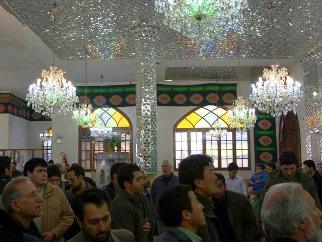 Tehran in Iran - Inside a mosque in Tehran