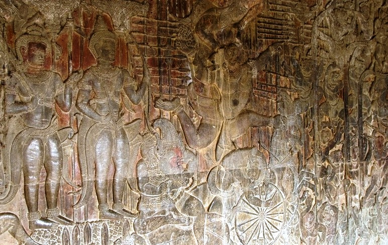 Angkor Wat in Cambodia - Bas-relief