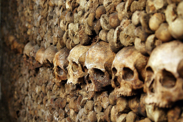 The Catacombs of Paris - Inside view