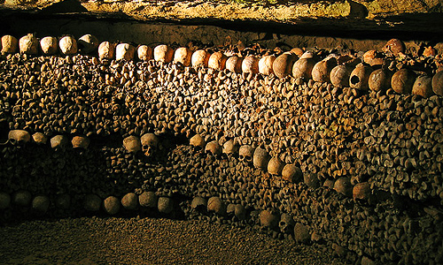 The Catacombs of Paris - View of the catacombs