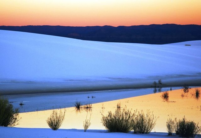 White Sands National Monument - Sunset view