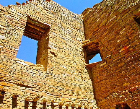 Chaco Canion National Historic Park - Preserved structure