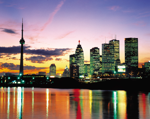 Toronto in Canada - Night view