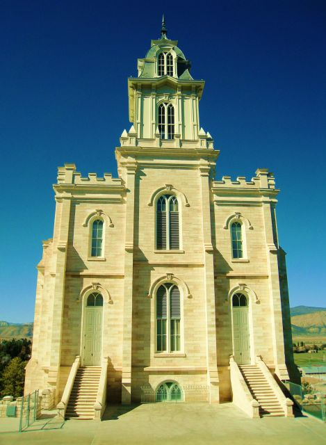 The Manti Temple  - Front view