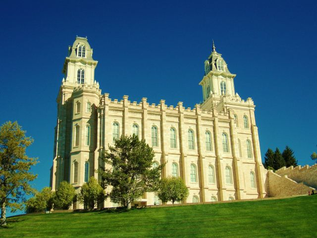 The Manti Temple  - Right view
