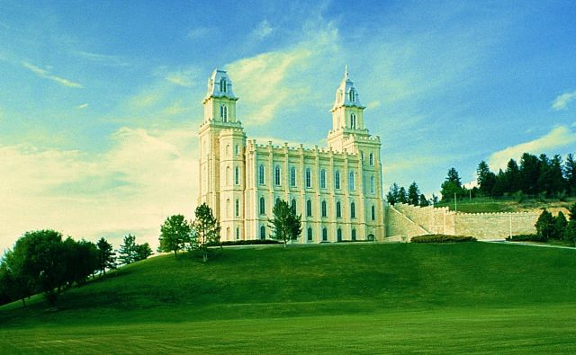 The Manti Temple  - Side view