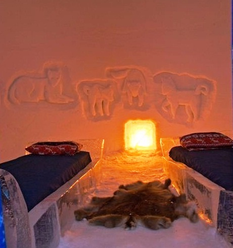 Snow Hotel - Interior view