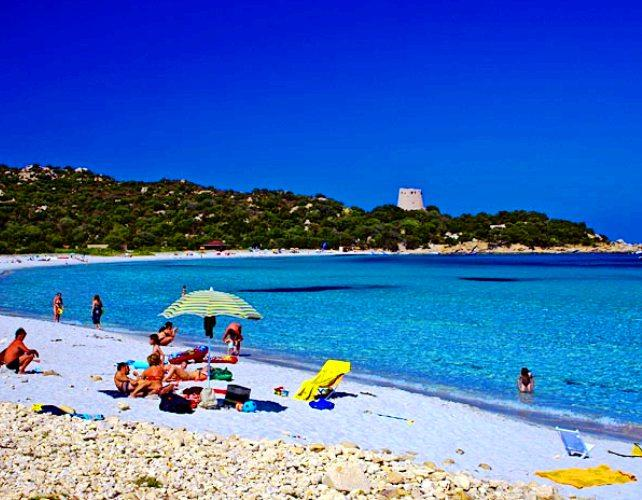 Cagliari in Sardinia, Italy - The Cala Pira Beach