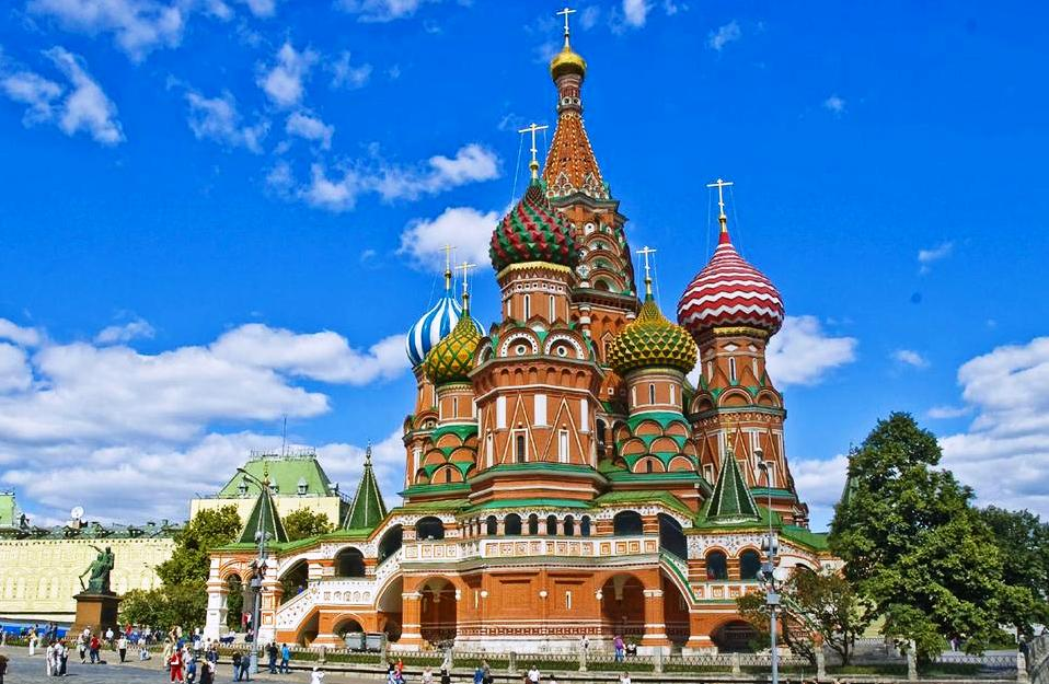 St. Basil's Cathedral in Moscow, Russia - General view