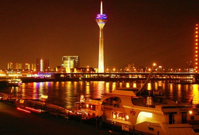 The Rhine Tower  - Night landscape