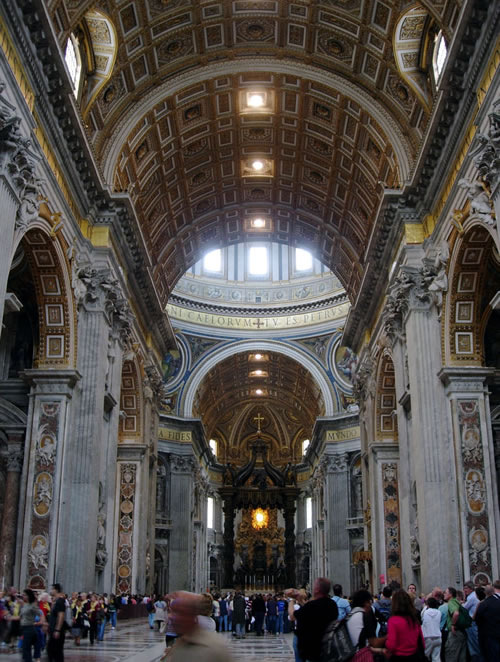 St. Peter's Basilica - Inside view