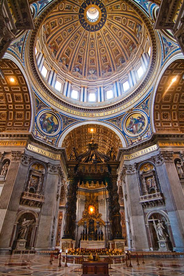 Images St. Peter's Basilica Interior view 7348