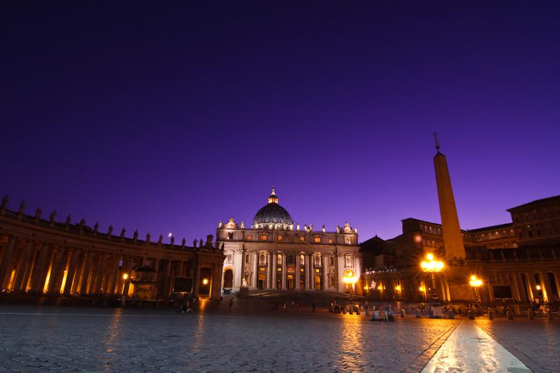St. Peter's Basilica - Night view