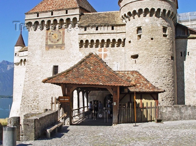 Chateau de Chillon Castle - Exterior design