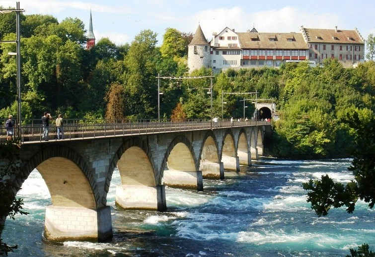 Rhine Falls - Bridge view