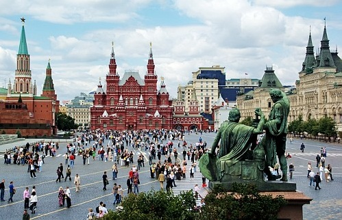 Moscow-one of the largest cities in the world - The Red Square