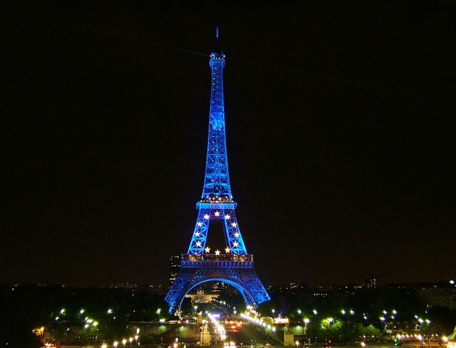 The Eiffel Tower Night View