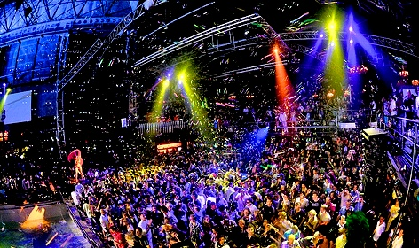 The biggest Night Club in the world   - Privilege Ibiza - the interior of the nightclub
