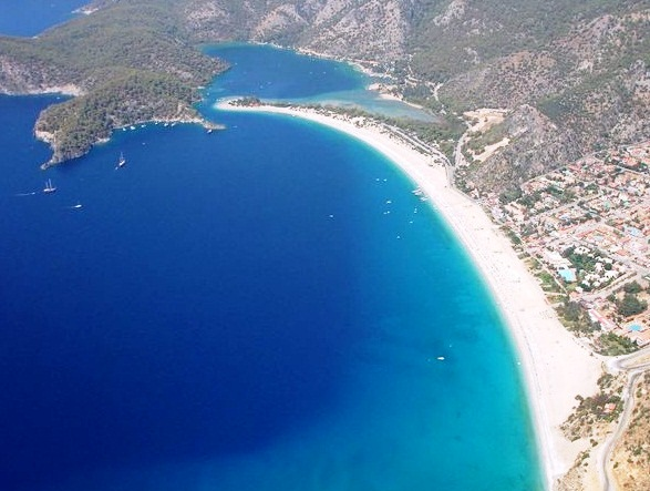 The Blue Lagoon in Turkey - Aerial view