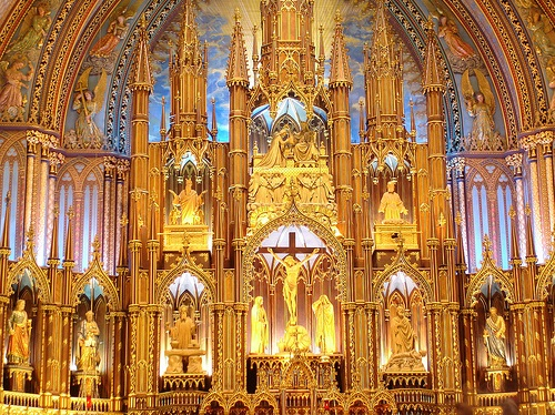 Ottawa - The Interior of the Notre Dame Church