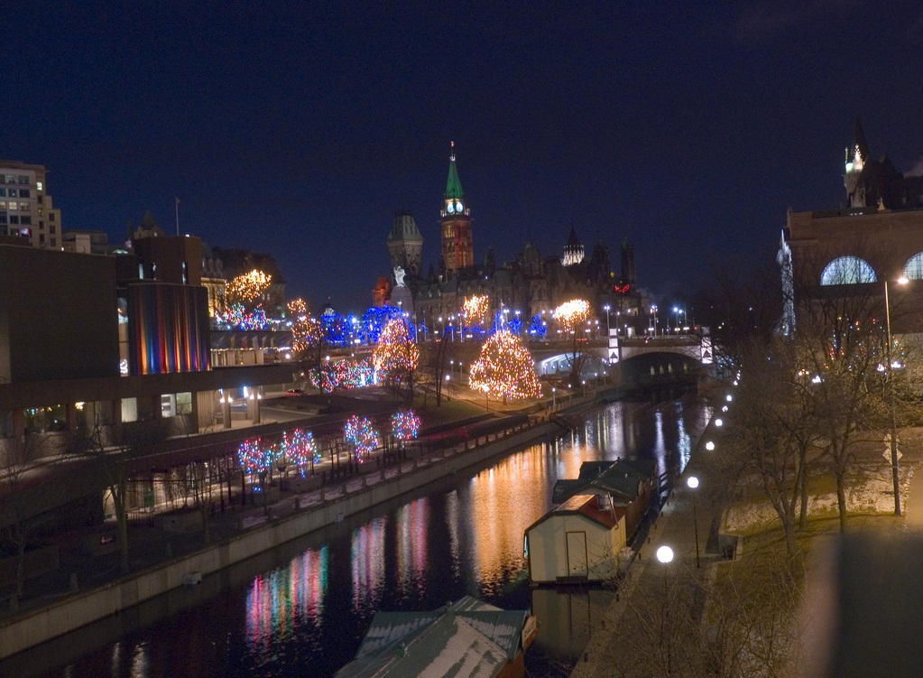 Ottawa - The  Rideau Canal by night